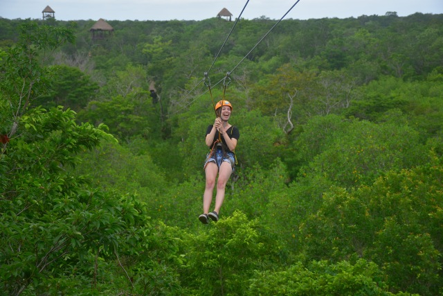 Ziplining in Cancun